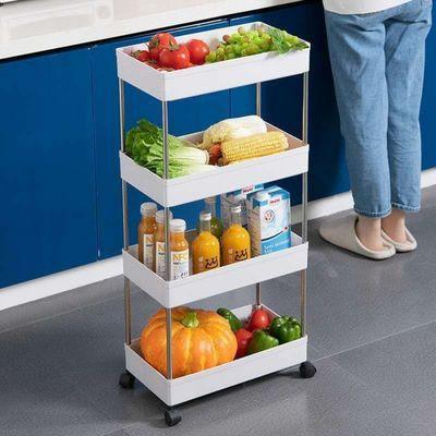 78956/家用多功能置物架厨房多层置物架卫生间移动置物架夹缝移动置物架
