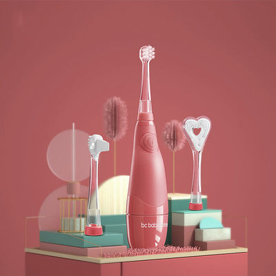74138/BABYCARE儿童电动牙刷 带LED灯防水软毛低震声波1-3岁宝宝牙刷