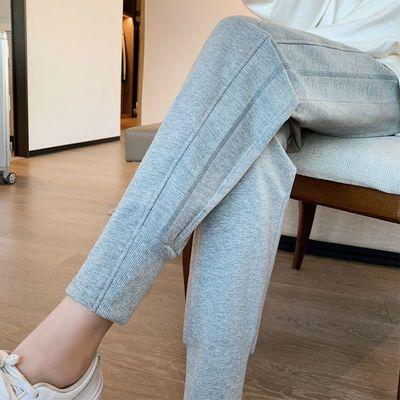 74898/灰色运动裤女宽松束脚矮个子春秋夏显瘦韩版卫裤薄款休闲哈伦裤子