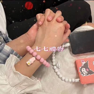 78330/抖音快手三丽鸥可爱数据线铃铛手环可爱甜美手链式可充电短线快充
