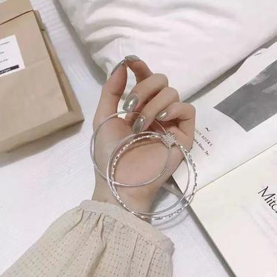 正品s999银手镯贵妃女纯银时尚简约旺夫送长辈送福送女友礼物