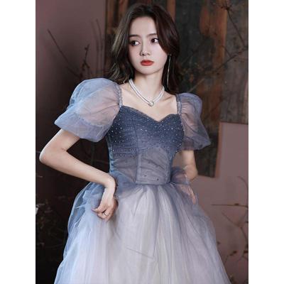75672/宴会晚礼服裙女2021新款高贵优雅气质年会主持成人礼平时可穿长款