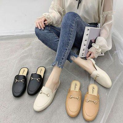68549/拖鞋女2021新款半拖包头鞋女外穿妈妈拖鞋ins网红凉拖软底奶奶鞋