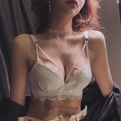 67527/内衣女聚拢防下垂收副乳胸罩上托蕾丝bra小胸爆薄款文胸内裤套装