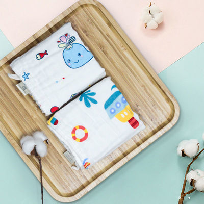69757/婴儿方巾口水巾宝宝洗脸纯棉纱布毛巾儿童幼儿园手帕新生儿洗澡巾