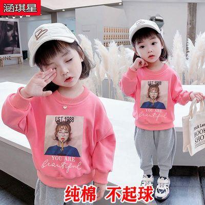 女童秋装2021新款洋气时髦韩版女宝卫衣春秋纯棉宽松版初秋上衣