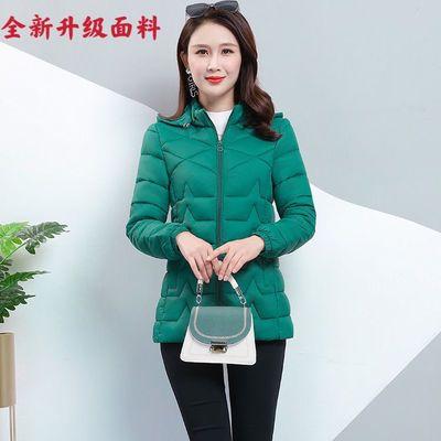 75996/2021最新款棉衣女韩版修身大码宽松加绒加厚羽绒棉服短款轻薄棉袄
