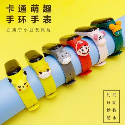 爆款LED卡通公仔电子表学生时尚防水电子表儿童创意触控手表运动