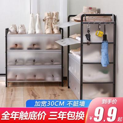 鞋架简易多层功能组装折叠鞋柜家用宿舍防尘多功能收纳置物架子