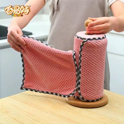 73358/洗碗抹布家庭专用不沾油不掉毛洗碗布去污吸水专用百洁布加厚毛巾