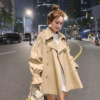 75499/工装外套女小个子短款风衣2021年新款春秋季韩版宽松流行薄款大衣
