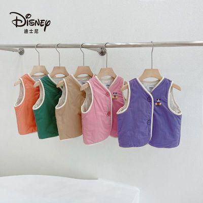 75798/迪士尼儿童羽绒棉马甲2021新款冬季男童女童外穿背心婴儿宝宝坎肩