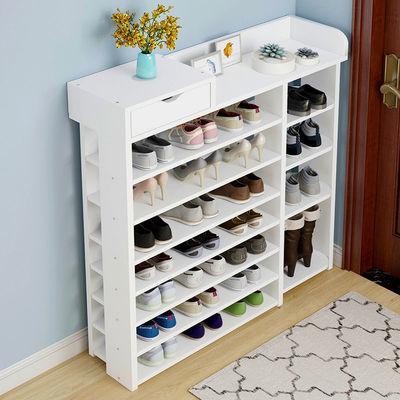 多层鞋架简易家用经济型防尘省空间鞋柜门口仿实木小鞋架子收纳