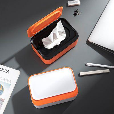 78892/口罩收纳盒湿巾盒家用便捷式大容量收纳盒带盖防尘干湿纸巾盒子