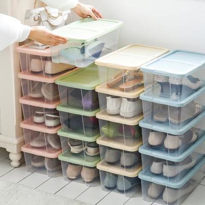 74532/防潮加厚透明鞋盒抽屉式塑料鞋子收纳盒鞋整理箱盒子组合靴子鞋箱
