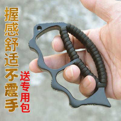 71443/户外指虎铁拳头合金强硬护卫指扣野外生存求生道具便携式自卫防护