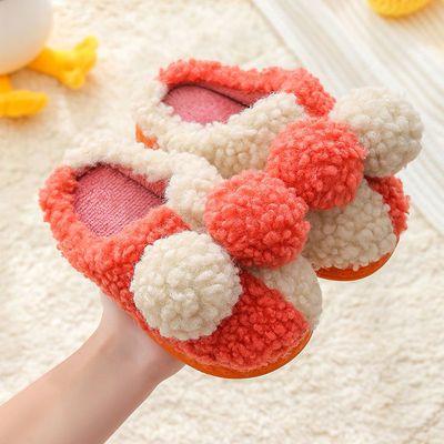 75302/儿童棉拖鞋2021冬季新款宝宝防滑居家毛毛鞋男女童室内亲子保暖鞋
