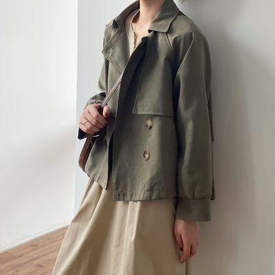 70590/2021秋季短款风衣女新款复古小个子女韩版chic宽松气质