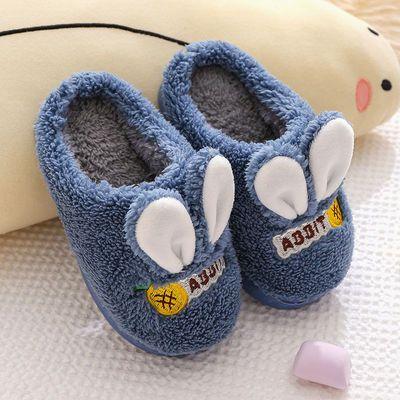 73172/儿童棉拖鞋亲子冬季保暖可爱室内跟家居毛绒软厚底保暖卡通防滑