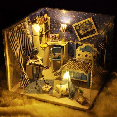 diy小屋手工制作模型创意迷你儿童玩具生日礼物送闺蜜男女朋友