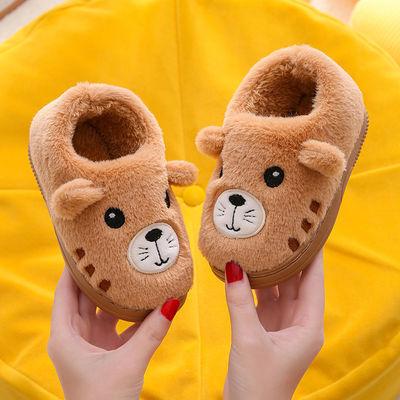 儿童棉鞋秋冬新款男女童宝宝可爱卡通中小童小孩防滑室内保暖棉鞋