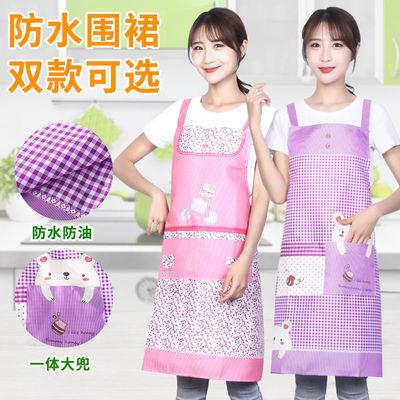 71792/防污防水围裙厨房做饭家用防污防油可爱日系围腰工作女时尚可印字