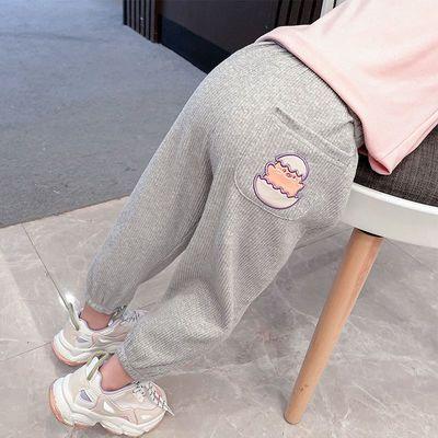 女童裤子2021秋冬新款儿童运动裤女宝宝加绒加厚保暖外穿束脚裤潮