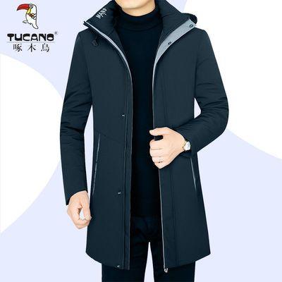 71671/啄木鸟冬季新款活里活面羽绒服中长款外套可脱卸内里轻薄白鸭绒服