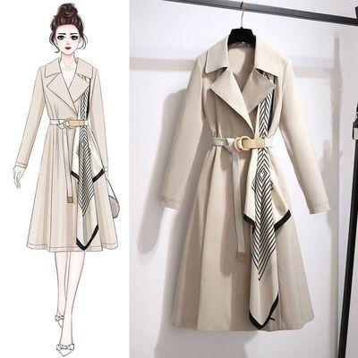 76051/风衣女中长款2020春秋装新款洋气减龄大宽松显瘦气质女士外套潮