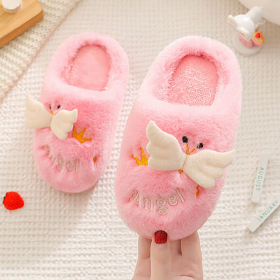 儿童棉拖鞋2021秋冬季男童女童卡通防滑毛毛可爱亲子室内家居棉鞋