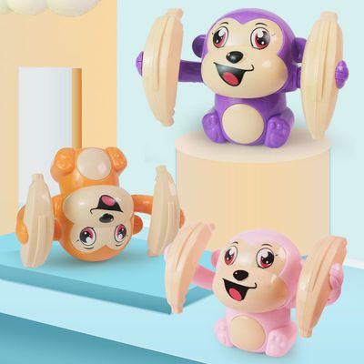 74337/W翻滚猴益智声光电动翻斗猴婴儿男女孩宝宝爬行翻跟头小猴子玩具