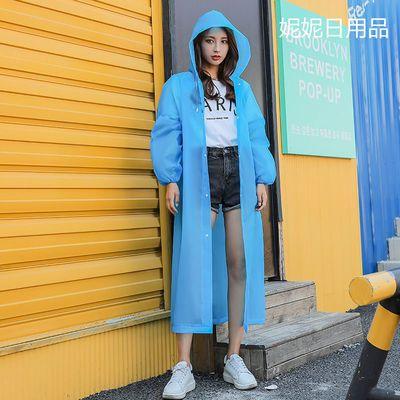 72327/时尚流行雨衣外套男女加厚成人便携防水户外旅游连体通用雨披无味