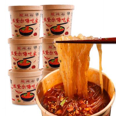 嗨吃家酸辣粉桶装整箱12桶-6桶重庆味红薯粉丝大桶方便面泡面速食