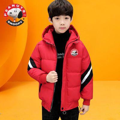 史努比童装男童棉袄冬装新款加厚中大童洋气男孩棉袄冬季潮