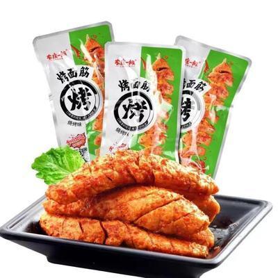 农庄一族烧烤味烤面筋20包/盒湖南特产网红辣条素肉休闲零食