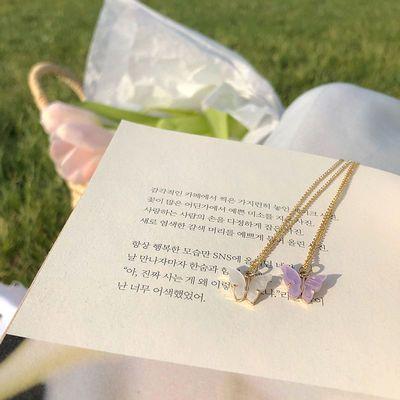 70970/小众设计感蝴蝶choker颈链 超仙项链女锁骨链ins韩版简约气质饰品