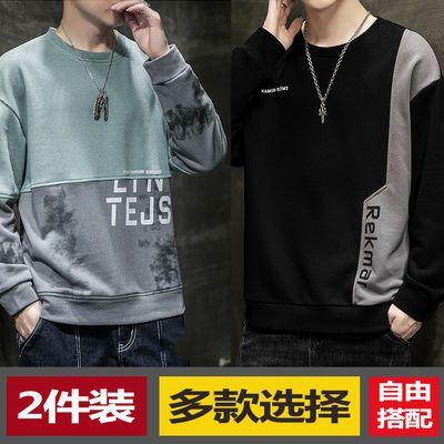 72223/卫衣男秋季款韩版潮流帅气宽松薄款长袖t恤男士秋衣上衣2021新款