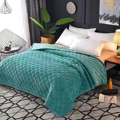 75969/水晶绒毛毯床单ab版保暖纯色床盖法兰绒加厚绒毯单双人床冬季加厚