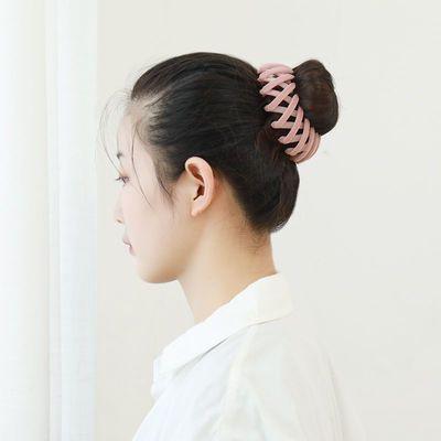 76504/天鹅绒面鸟巢发圈~盘发抓发夹子扎高马尾神器 固定韩国丸子头发饰