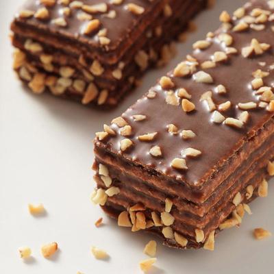 75633/巧克力威化饼干涂层夹心威化饼休闲办公室早餐曲奇零食小吃批发