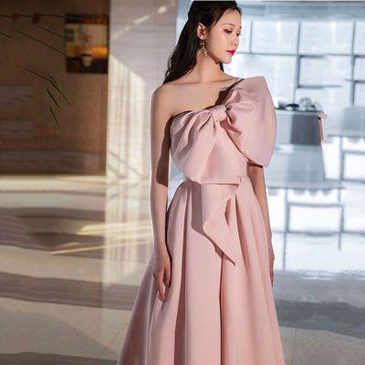77110/高贵宴会晚礼服裙女2021新款高贵优雅气质长款敬酒服新娘连衣裙