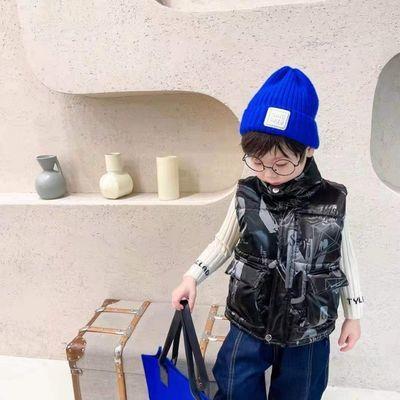 钻石男女童冬季羽绒棉马甲外穿儿童背心加厚短款外套