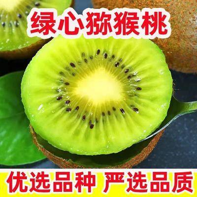 现摘陕西绿心猕猴桃新鲜应季奇异果整箱水果批发非红黄心弥猴桃