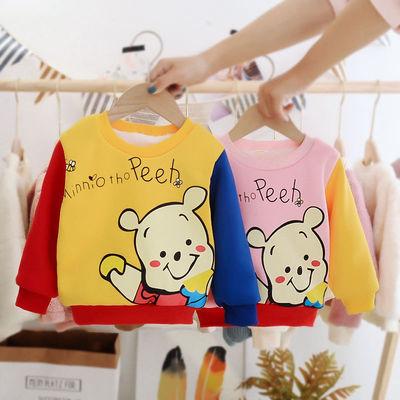 宝宝卫衣冬装男0-4岁婴儿冬款保暖上衣女婴幼儿衣服加绒加厚棉服3