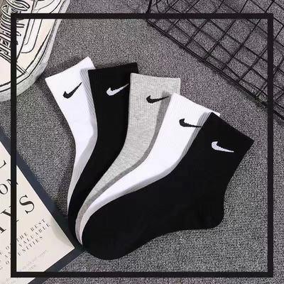 72345/男女袜子男士高中筒袜加厚长袜春夏季棉袜长筒袜黑色商务吸汗皮鞋