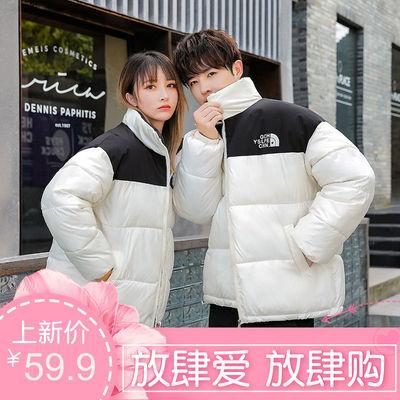 72594/2021冬季加厚韩版立领宽松大码羽绒棉服短款面包服小个子情侣棉衣