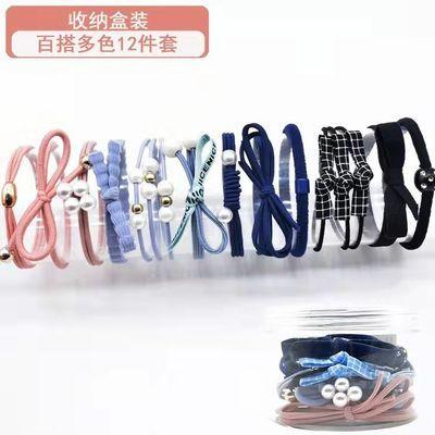 74197/韩国网红头绳女橡皮筋成人炸头发绳发饰头饰简约时尚头花发圈套装