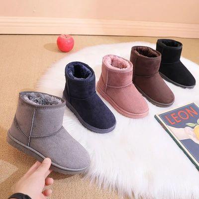 77395/儿童雪地靴男童加绒加厚女童保暖棉鞋高帮2021秋冬季新款宝宝棉靴