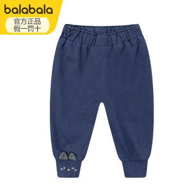 巴拉巴拉婴儿裤子2020冬装新款宝宝卡通加绒运动裤20084200108