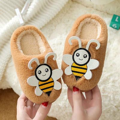 儿童卡通棉拖鞋包跟男女儿童室内宝宝家居软底防滑秋冬季保暖拖鞋